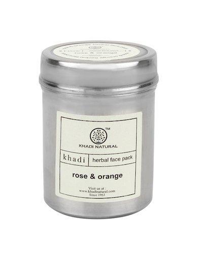 Khadi Natural Unisex Rose & Orange Herbal Face Pack 50 g