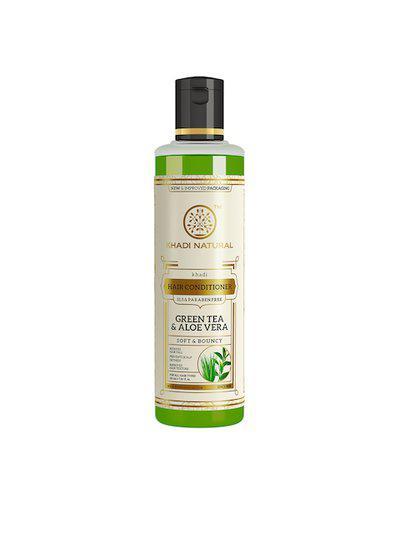 Khadi Natural Unisex Green Tea & Aloe Vera Herbal Hair Conditioner 210 ml