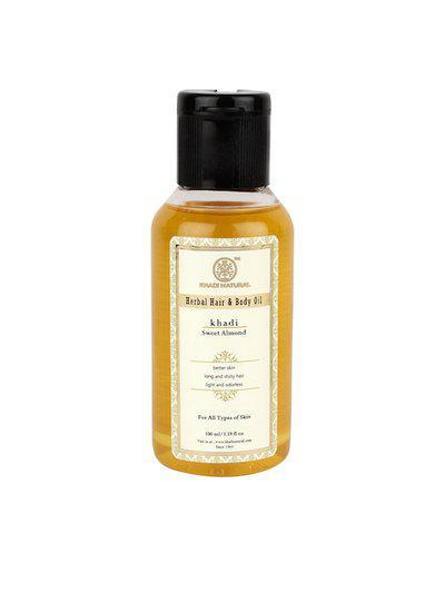 Khadi Natural Sweet Almond Hair & Body Herbal Oil 100 ml
