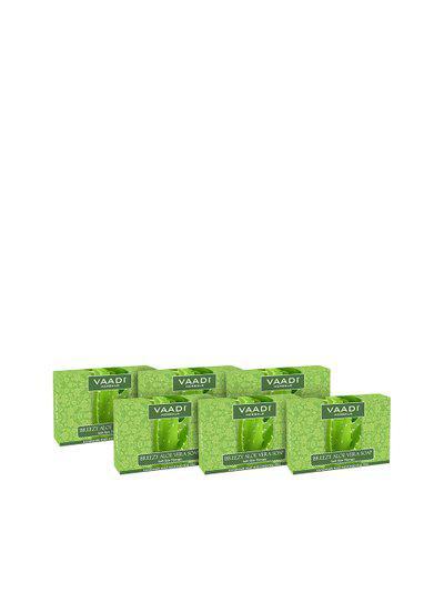 Vaadi Herbals Unisex Pack of 6 Breezy Aloe Vera Soap