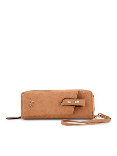Lavie Women Casual Tan Artificial Leather Wallet(5 Card Slots)