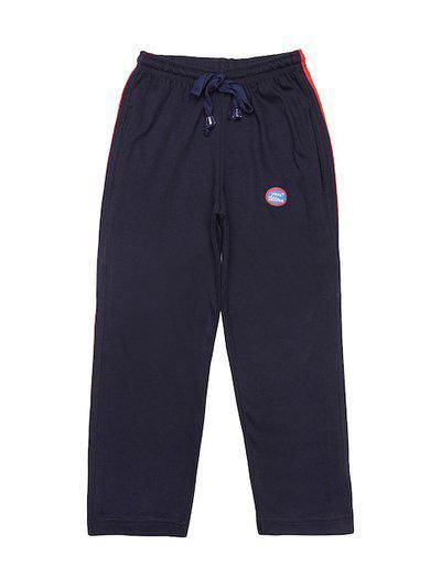 VIMAL JONNEY Boys Navy Blue Solid Track Pants