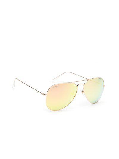 Fastrack Men Mirrored Aviator Sunglasses NBM165BR13