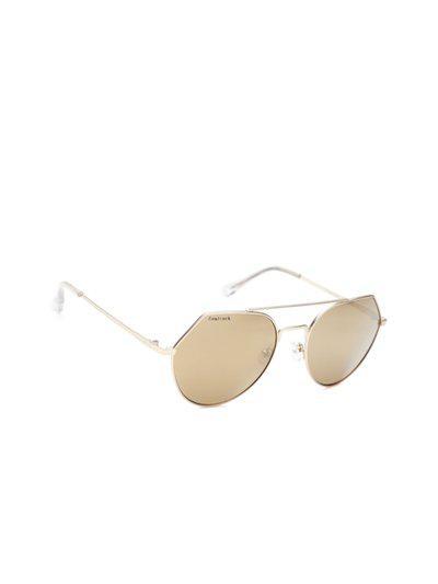 Fastrack Women Mirrored Oval Sunglasses NBM192YL1F