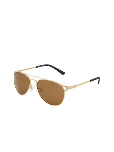 VAST Unisex Aviator Sunglasses TAC Polarized HD Premium (998825C3_GOLD)