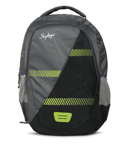 Skybags Unisex Grey EON 3 Graphic Backpack