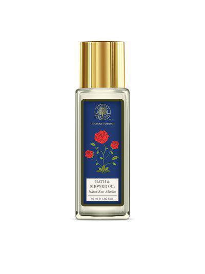 Forest Essentials Unisex Indian Rose Absolute Bath & Shower Oil 50 ml