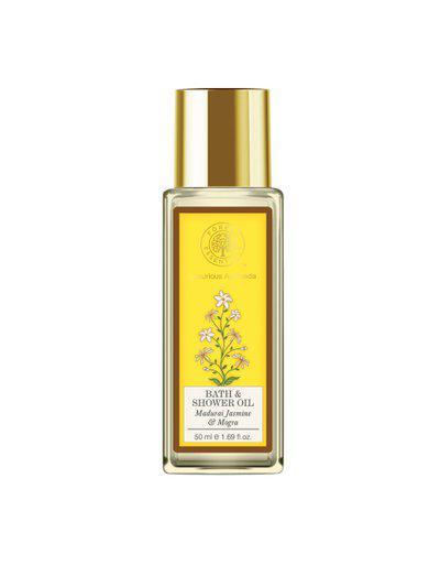 Forest Essentials Unisex Indian Madurai Jasmine & Mogra Bath & Shower Oil 50 ml