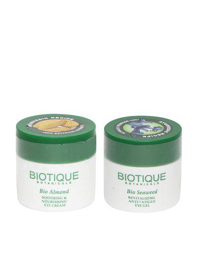 Biotique Unisex Set of Sea Weed Anti-Fatigue Eye Gel & Almond Eye Cream