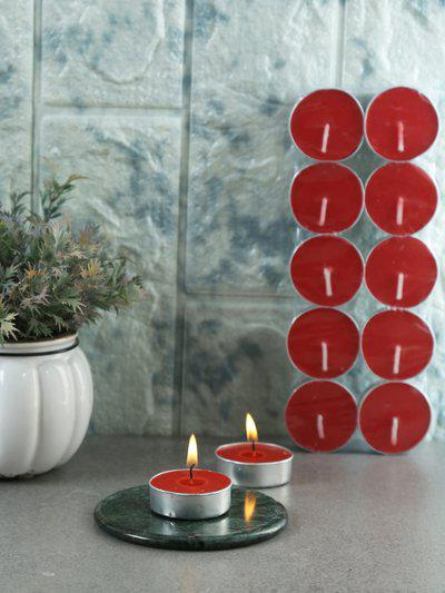 Resonance Set of 30 Red Non-Aromatic Tea Light Candles