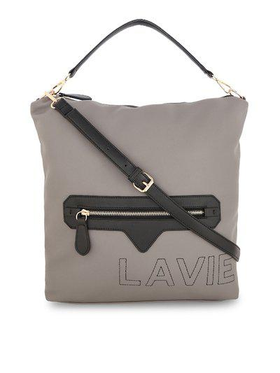 Lavie Faux Leather Women Handheld BagGrey