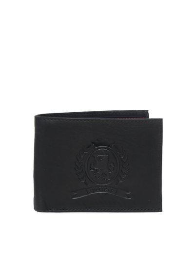 Tommy Hilfiger Men Casual, Formal Black Genuine Leather Wallet(12 Card Slots)