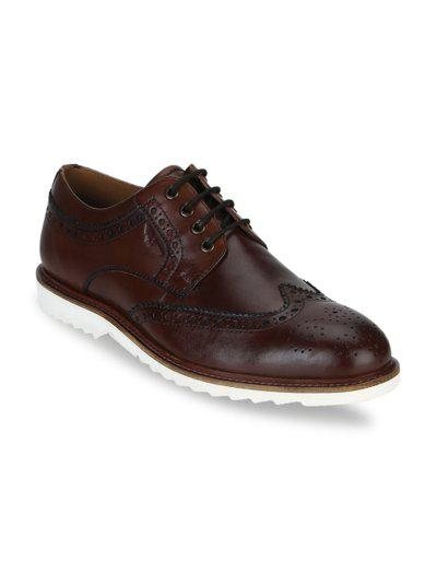 Park Avenue Maroon Leather Formal Shoes -/India (44)(PXSS00067-M646F044)