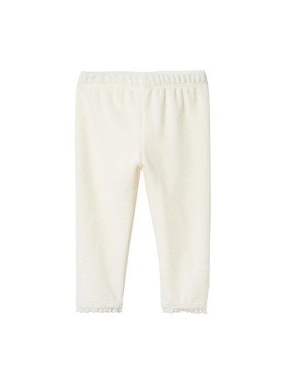 GAP Cream-coloured Baby Lace Trim Velour Leggings