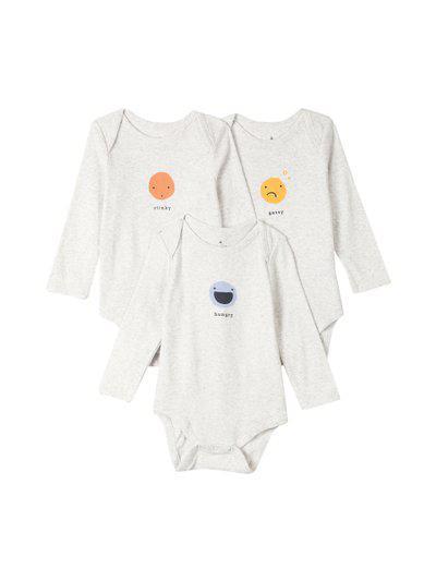 GAP Baby Emoji Bodysuit (3-Pack)