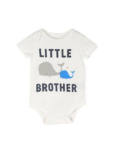 GAP Baby White Sunny Family Short Sleeve Printed Bodysuit
