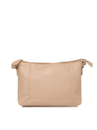 Lavie Beige Solid Sling Bag