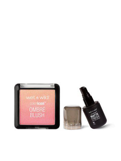Wet n Wild Pink & Black Blush and Setting Spray Makeup Kit