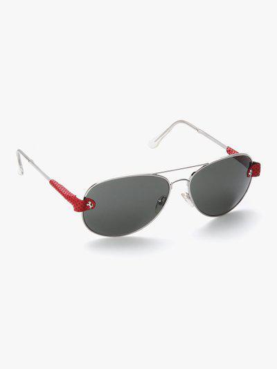 13253-F Grey/Red Aviator