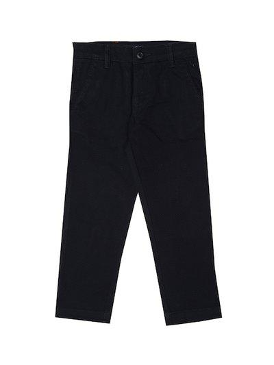 Allen Solly Junior Boys Black Regular Fit Self Design Regular Trousers