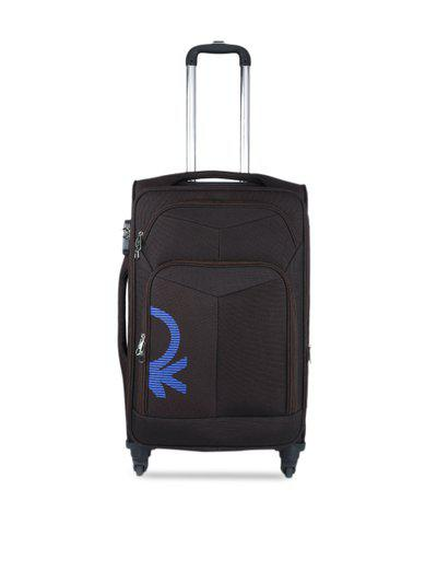 United Colors of Benetton Coffee Brown Medium Trolley Bag