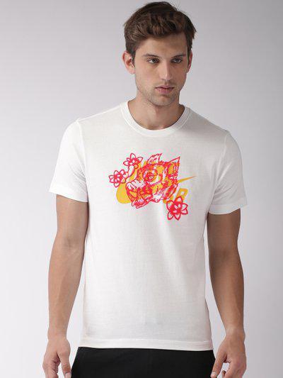 Nike White AS M NK SB TEE BOAR Printed Standard Fit T-shirt