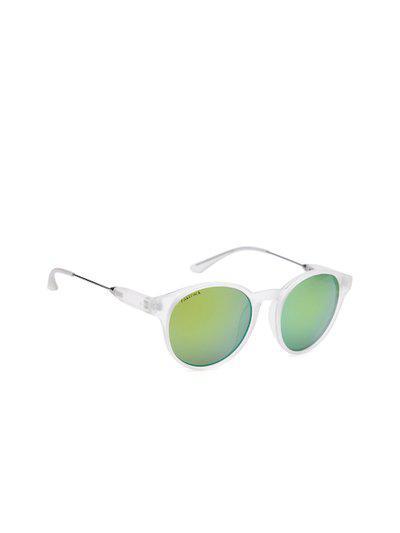 Fastrack Women Mirrored Oval Sunglasses NBC078YL4F