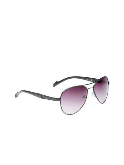 VAST Unisex Aviator Sunglasses AVIATOR_1003_BLACKSMOKEPURP