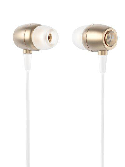 Motorola Gold Toned Metal Earbuds In-Ear Headphones