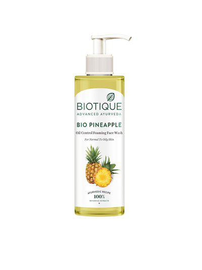 Biotique Bio Pineapple Oil Control Foaming Face Cleanser 200 ml