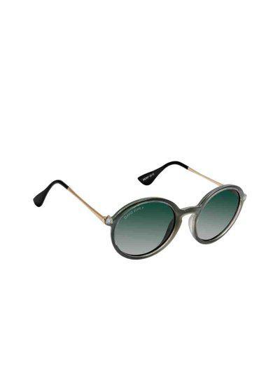 David Blake Unisex Green Round Sunglasses SGDB1727x2807C6