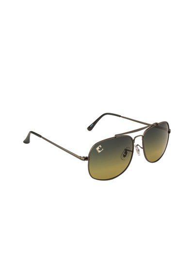 Clark N Palmer Unisex Green Square Sunglasses CNP-SB-872