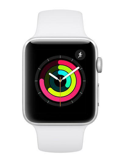 Apple Unisex Silver-Toned Series 3 Smart Watch MTF22HN/A