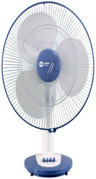 Orient DESK 400 mm Table Fan - White & Blue
