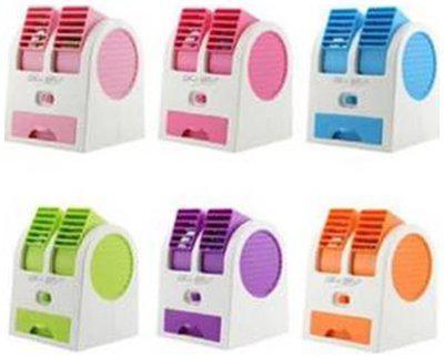Mini Small Fan Cooling Portable Desktop Dual Bladeless Air Conditioning fan USB