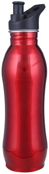 Lovato Stainless Steel Red Water Bottle ( 500 ml , Set of 1 )