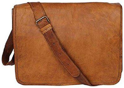 pranjals house real leather vintage small full flap messenger bag size L (11) H (9) W (3) for unisex
