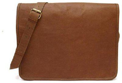 Pranjals House Vintage Handmade Genuine Brown Leather Laptop and Messenger Bag And Office Bag