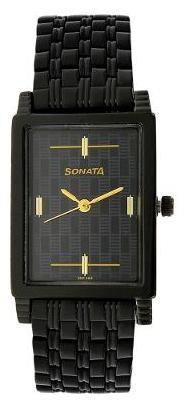 Sonata Black Dial Analog