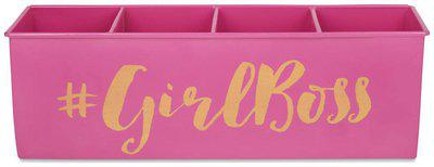 ELAN GIRLBOSS ALL-IN-ONE MULTIFUNCTIONAL OFFICE SUPPLIES DESK ORGANIZER - PINK