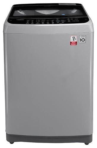 LG 6.5 Kg Fully automatic top load Washing machine - T7577NEDLJ , Middle free silver/ deep brown