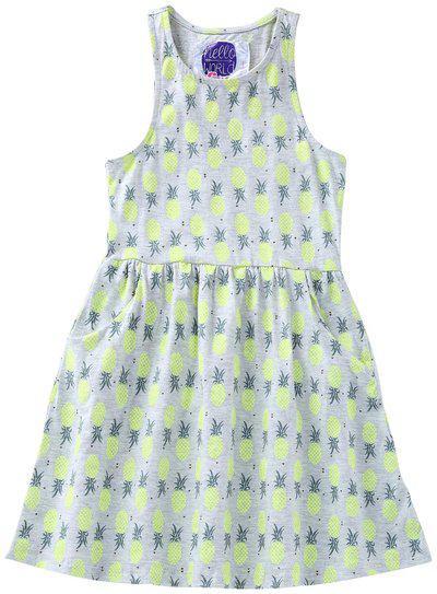 Eimoie Girls Midi/Knee Length Casual Dress(Grey, Sleeveless)