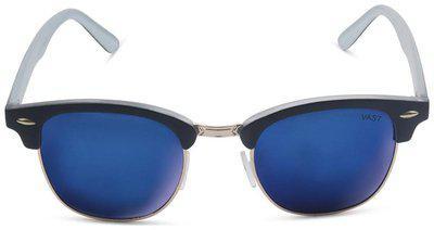 Vast UV Protected Wayfarer Unisex Sunglasses (CMWHTMRR 52 Blue)