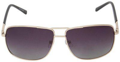 Vast Polar Vision Polarized Wayfarer Unisex Sunglasses (Polo226 Gold 62 Grey)