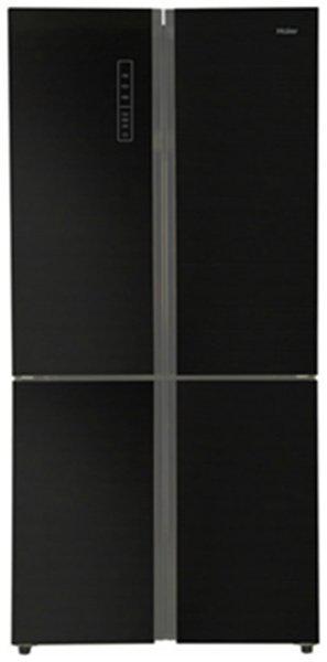 Haier Frost Free 712 L Side By Side Refrigerator (HRB738-BG, Black Glass)