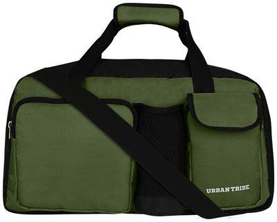 Urban Tribe Yatra Weekender Travel Duffel Bag with Laptop Compartment (34 litres) Black-Olive