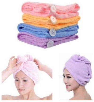 kudos New Cotton Hair Wrap Fast Drying Dryer Towel Bath Wrap Twist Quick Dry Head