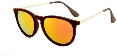 Ted Smith Unisex Round Sunglasses (TS4171-BRN)Size- 58 mm