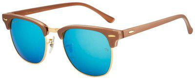 Ted Smith Unisex Club-master Sunglasses (TS3016-BRN/GLD)Size- 58 mm