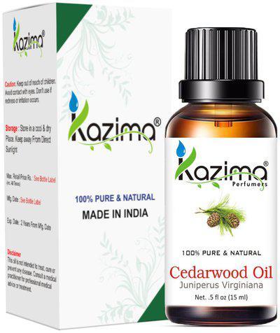 Kazima Cedarwood Essential Oil (15 Ml) 100% Pure Natural & Undiluted For Skin Care & Hair Treatment